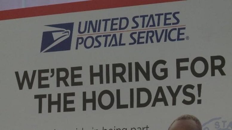 Countdown to Christmas? USPS hiring for holiday help