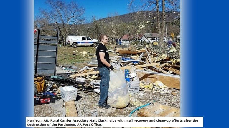 Postal employees pick up pieces after recent tornadoes