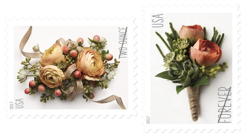 new celebration corsage and boutonniere forever stamps