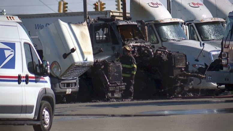 Authorities Investigating Truck Fires At Cleveland Post Office