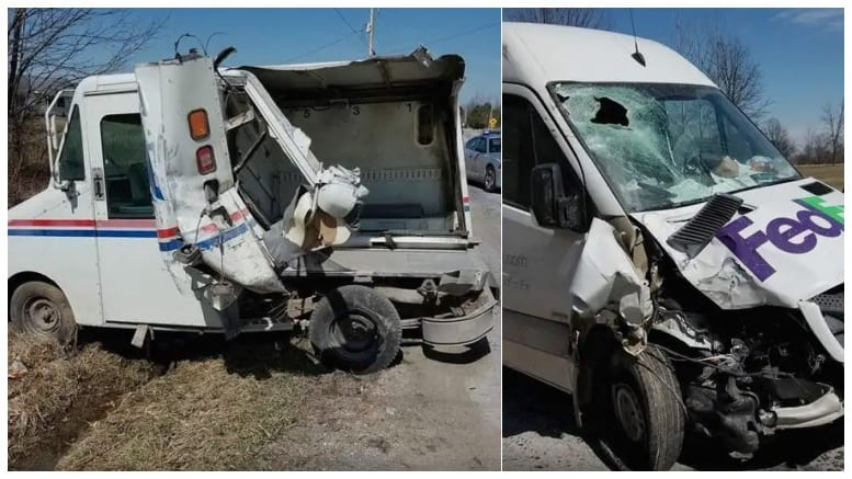 Fed Ex, mail truck involved in Wellington crash – Postal Times