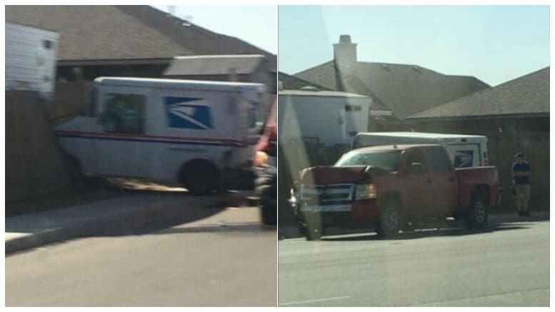 Driver cited following crash with mail delivery truck ...