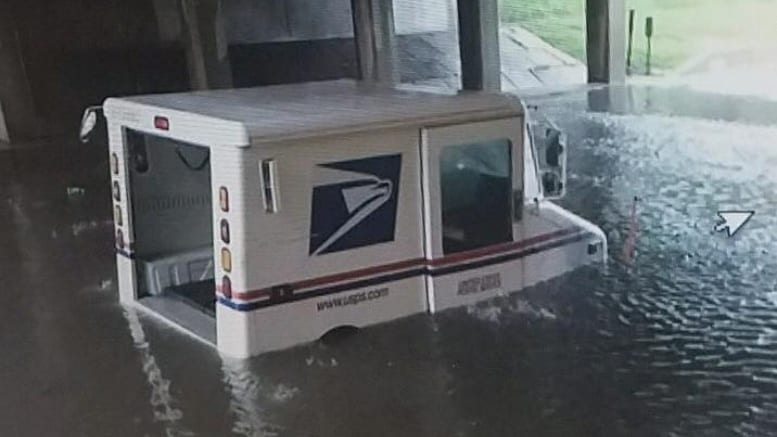 Truck Service Near Me >> Ames fire crews use boat to rescue post office carrier from flooded mail truck – Postal Times