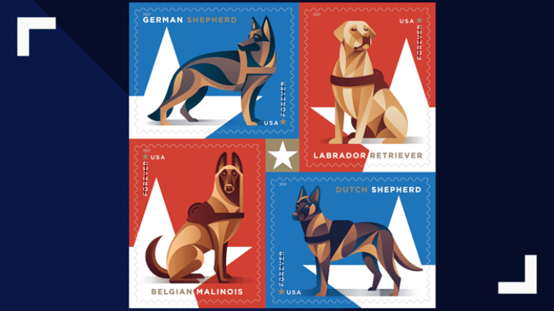 military working dogs to be honored with postal stamp
