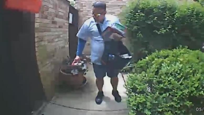 Postal Carrier Caught On Camera Spraying Dog With Pepper