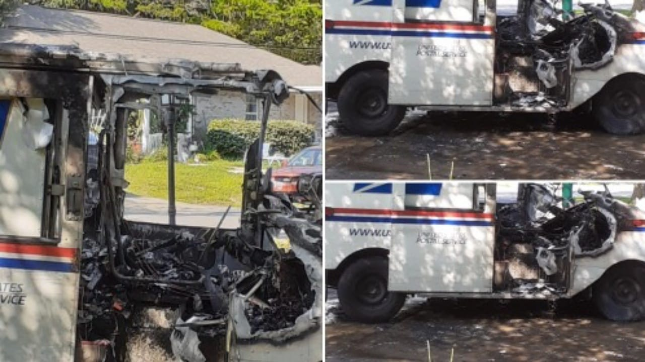 U.S. Postal Service truck catches fire while the postal worker delivered mail in Niceville