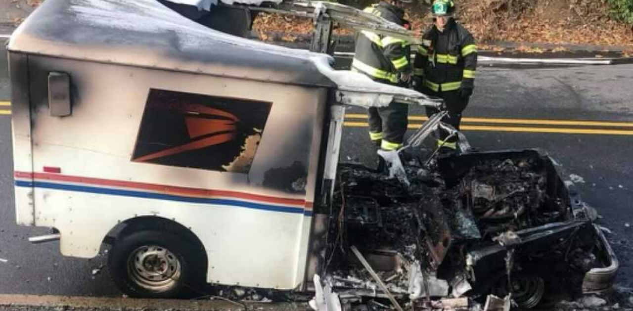 Mail Truck fire - Connecticut